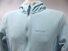 MARMOT Fleece Jacket Medium M Hooded Blue Polyester C334