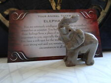 *ELEPHANT* Carved Stone Figurine Totem Wiccan Pagan Familiar Metaphysical