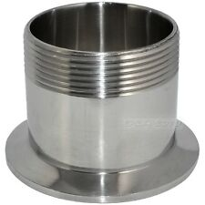 """2"""" DN50 Sanitary Male Threaded Pipe Fitting to TRI CLAMP (OD 77mm) Ferrule SS304"""