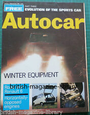 Autocar 20 November 1969 RAC Rally First Stages Caravan Show Road Test Renault 6