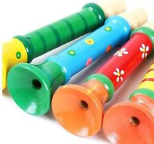 Cute Multi-Color Wooden Horn Hooter Trumpet Baby kids Instruments Music Baby Toy