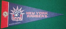 NEW YORK RANGERS NHL MINI PENNANT, NEW & MADE IN USA