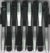 1.5in. 2ba Black/Silver TURBO Spinning Aluminum Dart Shafts: 3 per set