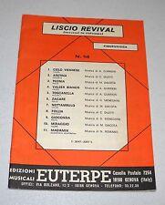 Spartiti LISCIO REVIVAL n. 14 Orchestra Liscio Fisarmonica Gurrieri Diletti