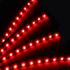 HOT 4 X Red 15 LED 30cm Car Auto Flexible Waterproof Strip Light SMD 12V DQ-1