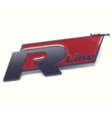 VW R Line Style Badge Emblem Black Red Passat Golf Polo Tiguan Scirocco R32 Car