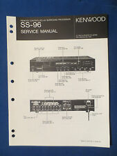 KENWOOD SS-96 PROCESSOR SERVICE MANUAL ORIGINAL FACTORY ISSUE GOOD COND