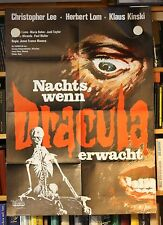 Nachts, wenn Dracula erwacht - Christopher Lee, Jess Franco - Filmposter Plakat