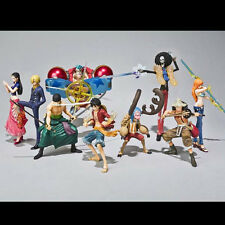9pc Lot One Piece Robin Sanji Zoro Luffy Usopp Nami Brook Figure Figurine No Box