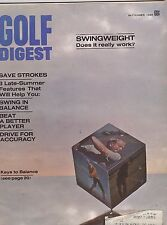 SEPT 1969  GOLF DIGEST  vintage magazine -  SWING WEIGHT DOES IT WORK?