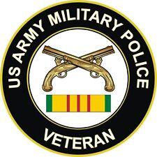 "Army Military Police Vietnam Veteran 3.8"" Window Sticker Decal"