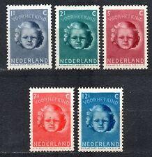 Nederland  444-448  Kinderzegels   1945   LUXE POSTFRIS