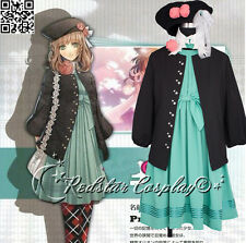 AMNESIA HEROINE Hot Anime Lolita Skirt Party Cosplay Costume Made + Wig