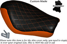 TWOTONE DIAMOND ORANGE CUSTOM FOR HARLEY SPORTSTER LOW IRON 883 SOLO SEAT COVER