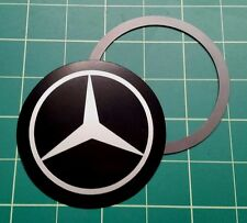 Tax Disc Holder Magnetic fit mercedes Silver logo
