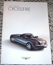 NEW 2006 CHRYSLER CROSSFIRE COUPE CONVERTIBLE ROADSTER SRT6 LITERATURE BROCHURE!