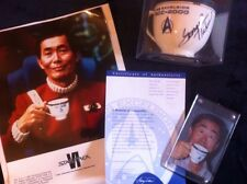 PFALTZGRAFF Star Trek VI 3 Piece EXCELSIOR SET +Teacup SIGNED BY GEORGE TAKEI
