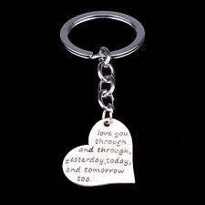 Charm Heart Love You Keyring Keychain Key Chain Ring Fob Friends Lover Gifts NEW