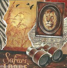 4 x single Lodge serviettes en papier thème africain safari découpage et artisanat