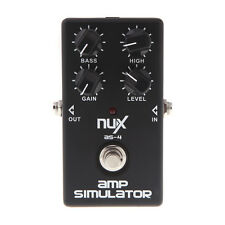 NUX AS-4 Simulator Amplifier Guitar Effect Pedal Cabinet Sound Distortion