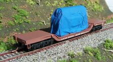 Tarp Covered Machinery Loads for Micro-Trains Depressed Center Flat Car, N Scale