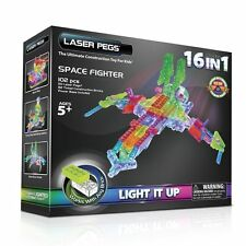 Laser Pegs, 16-in-1 Space Fighter, Building Set - Light & Sounds, Construction