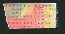 The Virgin Tour 1985 Madonna Concert Ticket Stub Beastie Boys Cincinnati Gardens