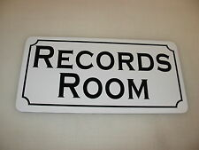 RECORDS ROOM Metal Sign 4 Costume Cosplay Girls Clubware S&M Prop