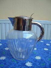 Art Deco Karaffe Kalte Ente Kristallglas versilberte Montur