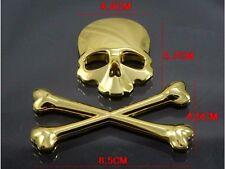 3D Crossbone Skull Metal Logo Emblem Badge Decal Tank Sticker Moto Guzzi Trike