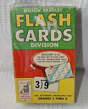 Vintage Division Flash Cards Milton Bradley 1963 in Original Box
