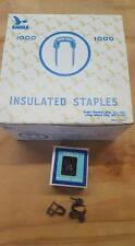 BOX OF 1000 EAGLE MFG CO BROWN PAINTED INSULATED STAPLES # 264   W62
