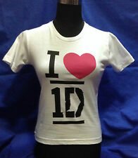 ONE DIRECTION 1D T SHIRT MAGLIETTA BIANCA LOVE 9/10 ANNI OFFICIAL MERCHANDISING