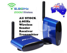 NEW 5.8 GHz 200M Wireless WIFI TV AV Transmitter Receiver Sender Audio Video AU