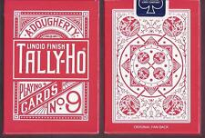 1 DECK Rose Tally Ho Fan Back V1 RED playing cards FREE USA SHIPPING