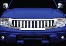 NISSAN FRONTIER NAVARA D40 05-09 FRONT HEAD CHROME GRILL GRILLE HUMMER STYLE