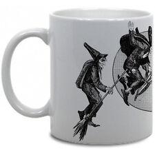 WITCHES COFFEE MUG! halloween full moon antique vtg witchcraft salem black magic