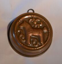 VINTAGE HORSE MOLD COPPER TIN~LINED JELLO CAKE BUTTER MADE IN SWEDEN #1