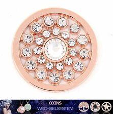 COIN COINS MÜNZEN No. 485 Rose-Gold Kristall 33mm kompatibel mit Quoins Moneda