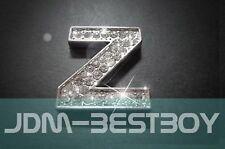 Letter Z Racing decal Swarovski Crystal Alphabet emblem