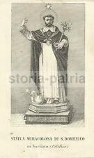 CALABRIA_SORIANO_S. DOMENICO_ANTICA ICONOGRAFIA_MILETO_MIRACOLO DEL 1871_STATUA