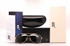 Montblanc MB 518S 30N Gold Green Brown Black Aviator Sunglasses 60mm mb 518s 30n