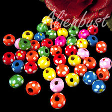 CLEARANCE SALE! Wholesale 20 PCs Mixed Color Flower Round Wood Beads 1CM