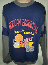 Mens NBA American Basketball Best Games Sweatshirt Shirt Blue Large Buzz Vintage