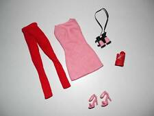 Barbie Model Muse Fashion PINK SPEED RACER MINI DRESSRED Tights BINOCULARS