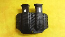 DOUBLE MAG Magazine HOLSTER BLACK CARBON KYDEX SIG SIG P938 Outside Waistband
