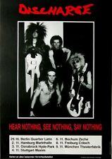 DISCHARGE - 1982 - Tourplakat - Hear Nothing - See Nothing - Poster - Concert