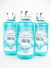 Bath Body Works 3 Fresh Sparkling Snow Shower Gel Body Wash 10oz Shea Vitamin E