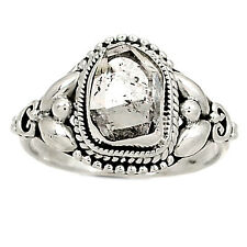 Herkimer Diamond 925 Sterling Silver Ring Jewelry s.9 RR1436