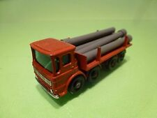 LESNEY MATCHBOX LEYLAND PIPE TRUCK - RED -  GOOD CONDITION